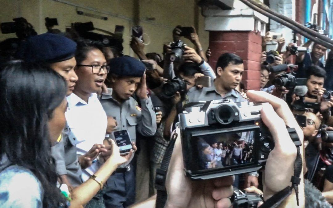 In Myanmar, you have 100% chance to be arrested for being a journalist